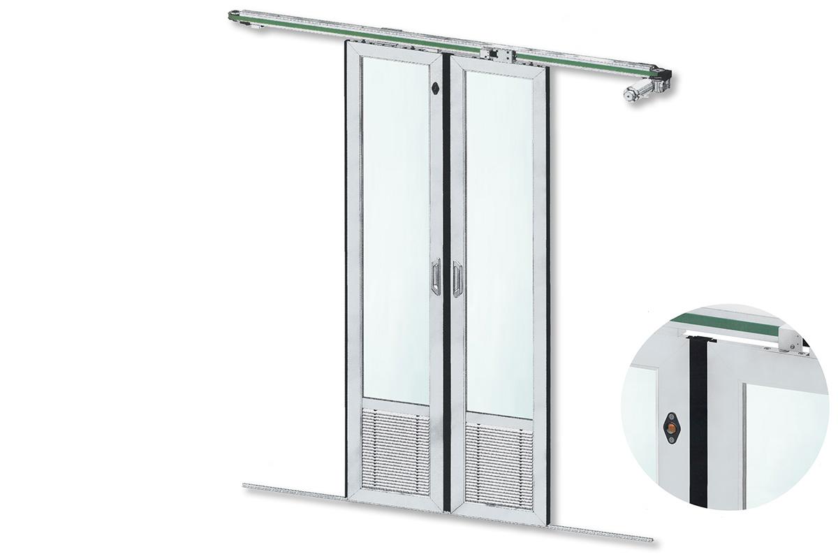 kasper-elektronik | Slim-Line | Zweiflügeliges Abteiltürsystem