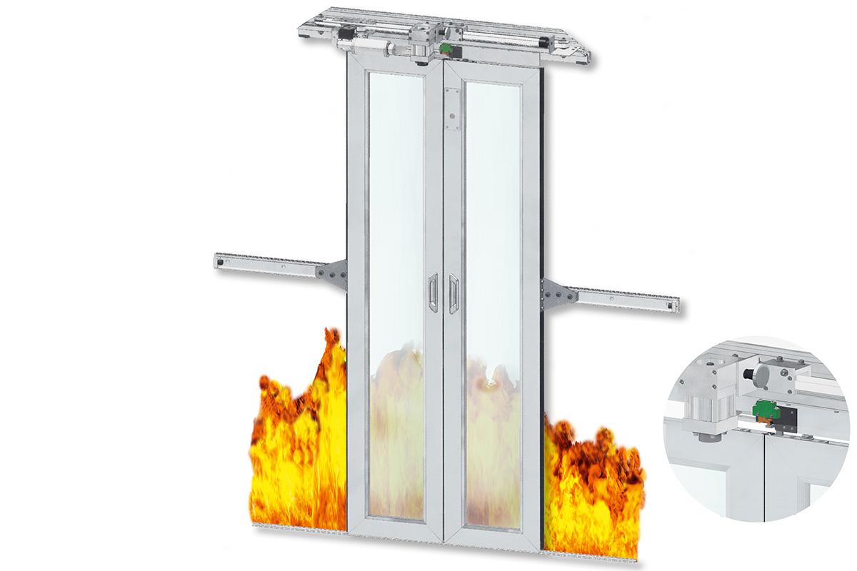 kasper-elektronik | Brandschutztürsystem | elektromotorisch angetrieben
