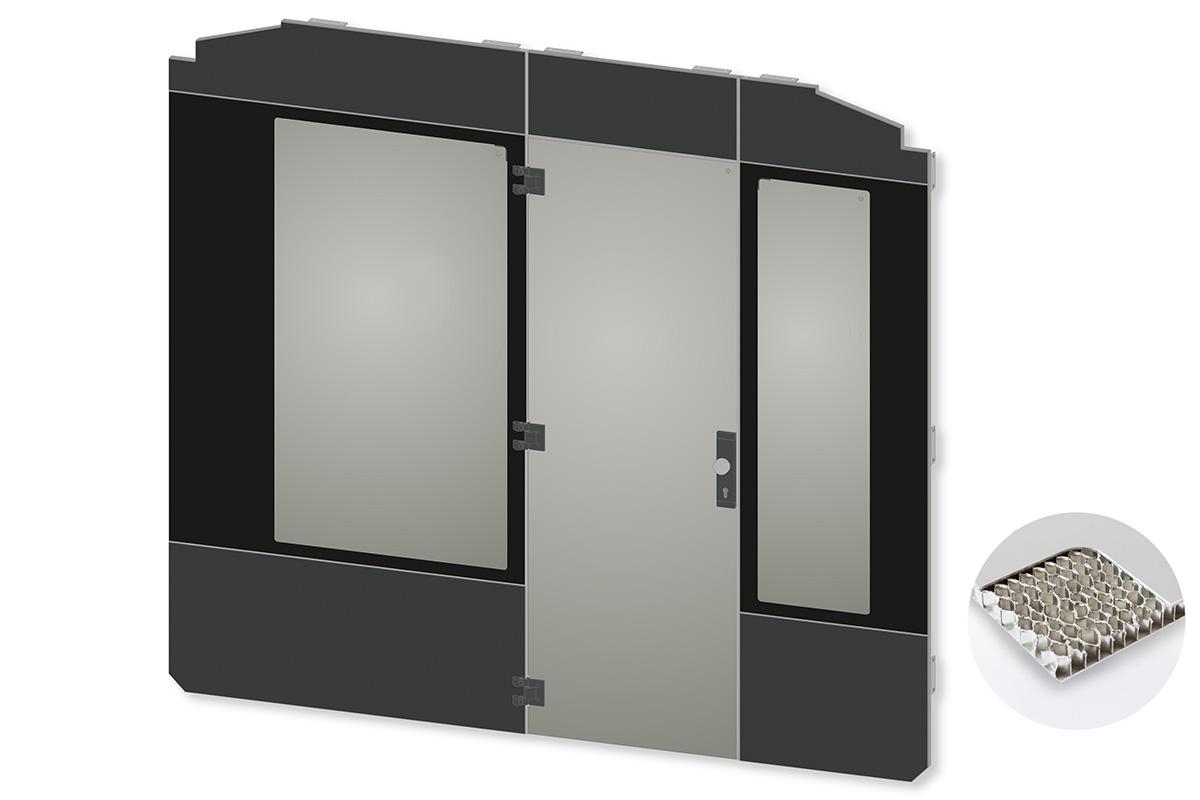 kasper elektronik | Fahrerraum-Trennwand in transparentem Ganzglas-Design