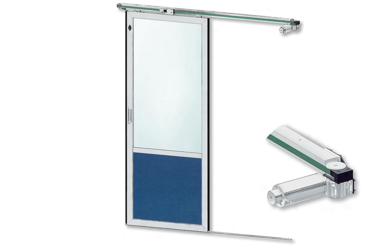 kasper-elektronik Türsystem | elektrische Schiebetür mit schmaler Führung