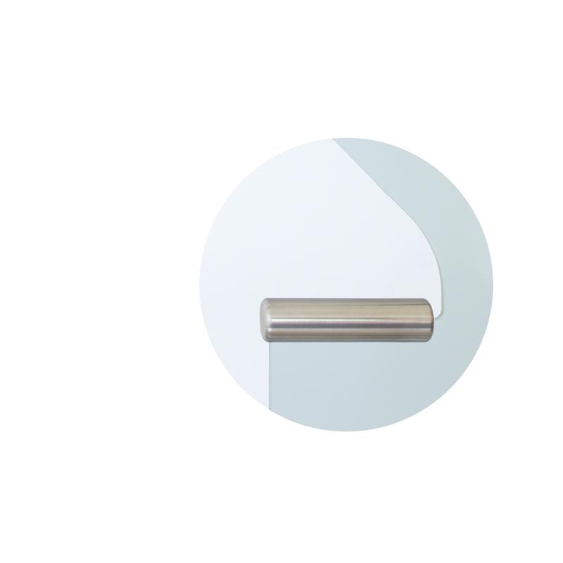 Unsichtbar verklebter Edelstahl-Türgriff